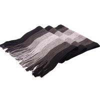 Scarf male winter fashion stripe thickening ultra long yarn knitted scarf male muffler scarf