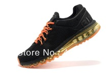 Top Quality Max 2013 Men's Air Sports Running Shoes Max 2013 Men's Athletic Running Shoes Size 40-46 Free Shipping(China (Mainland))