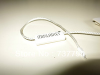 MOQ=5000pcs/custom printed clothing seal hang tag /free shipping/string hang tag/plastic tag
