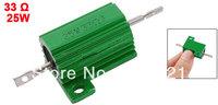 Green 25 Watt 33 Ohm 5% Aluminum Housed Wire Wound Resistor