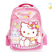 2013 Autumn -summer cute  nylon school satchel birthday gift for kids Free shipping hello kitty backpacks