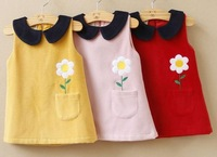 Autumn Korean style new girls vest dress sleeveless dress girls cashmere