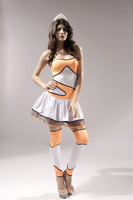 Supernova selling Halloween collar Strapless cheerleading Dance costumes costumes Women Cosplay costume Free shipping 8446
