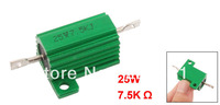 Chasis Mounted 25W 7.5K Ohm 5% Aluminum Case Wirewound Resistor