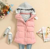 Free shipping women's cotton vest winter down coat jacket
