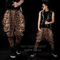 designer 2013 mens costumes Tnt fashion  clothing paillette leopard print personalized pants costumes costume  for men