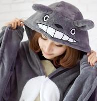 Free shipping Super Meng Hayao Miyazaki Totoro cosplay cloak cape coral velvet cloak cape house people lazy blanket