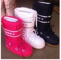 Wholesale and retail women new moon boots,fashion snow boots,hot no-slip ski boots,free shipping female winter boots