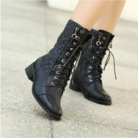 Free shipping 2013 New England women's boots with thick Spring and Autumn boots Motorcycle boots Knight boots