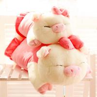 Three cis-pig plush toy doll Large pig pillow birthday gift schoolgirl gift