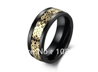 Free Shipping,Golden carbon fiber Ceramic  Ring   Jewelry Wedding Band for women  men wholesale