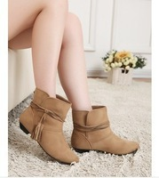 Foreign trade export fringed boots small slope with boot boot