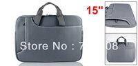 "15"" 15.4"" 15.6"" Gray Laptop Sleeve Bag Zipper Case w Handle for Macbook Pro"