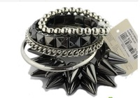 women's Fashion  punk rivets multi-layer bracelet