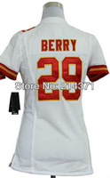 Hot Sale # 29 Eric Berry Women's Authentic White Football Jersey Free Shipping Online 2013