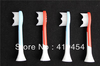 Neutral Package 400 pcs/lot P-HX-6044 Sonic Electric Toothbrush Heads HX6044 Soft Bristles (1pack=4pcs) DHL Free Shipping