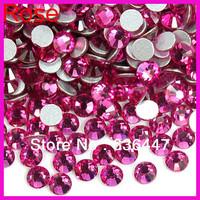 min order $10 FJA0112 Wholesale and resale 1440pcs 1.5-5.0mm Rose loose dmc glass rhinestones flat back for wedding dress