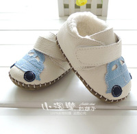 Winter genuine leather male cotton shoes skidproof toddler shoes soft baby shoes outsole indoor cotton-padded shoes boots