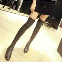 Repair 2013 stovepipe elastic over-the-knee 25pt high-leg low-heeled boots female shoes