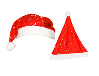 48pcs/lot cheap  Christmas x'mas Hat Red fashion Santa xmas Hat Cheaper christmas hat red