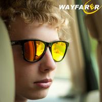 Male Woman driver mirror polarizer glasses retro sunglasses Frogskins frog skin