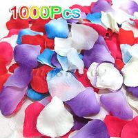 1000Pcs Multicolor Silk Flowers Rose Petals Wedding Party Decoration Favours 5cm[050219]