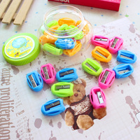 Free shipping Wholesale Mini cute pencil sharpener special primary school children's stationery pencil sharpeners