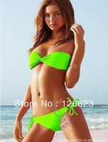 Женское бикини New Sexy Women Bikini With Inside Pads Indian Flower Swimwear Swimsuit Beachwear