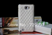 20pcs/lot Wholesale New Luxury Design Deluxe Pu Leather Case Skin For Samsung Galaxy Note II 2 N7100 Cover Shell FREE SHIPPING