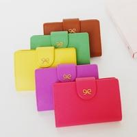 Jamstudio small bow bright color short design card case card holder 5