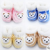 2013 Free shipping new design 12pair/lot  4color/mixed  baby thickening warm shoes.baby Antiskid baby shoes.