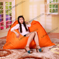 FREE SHIPPING 140*180CM bean bag covers LUXURY SUEDE orange bean bag wholesale bean bag covers only