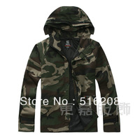 women & mens green military jacket unisex outdoor camouflage clothing couple camo hooded jacket camouflage canvas coat y555