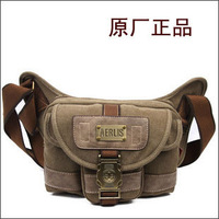 Aerlis male shoulder messenger casual canvas outdoor sports bag