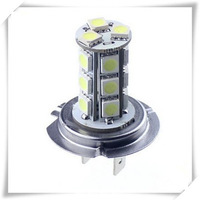 Free Shipping 10pcs H7 18 SMD 5050 Pure White Fog Tail Signal 18 LED Car Light Lamp Bulb 12V