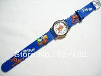 Wholesale 1pcs 3D Cartoon Scooby Doo Children Kids Girls Boys Students Quartz Wrist Watches Students Best Gift