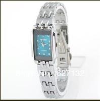 Free Shipping 2013 Blue Dial Silver Strap Woman Ladies Girl Bracelet Analog Gift Quartz WristWatch