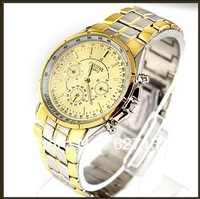 Golden Luxury Men's Analog Stainless Gift  Quartz Wrist Watches