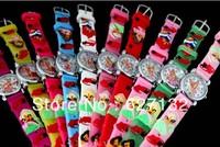 Wholesale 10pcs 3D Cartoon Winx Club Children Kids Girls Boys Students Quartz Wrist Watches
