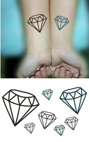 Fashion waterproof tattoo stickers male female HARAJUKU personalized diamond combination of tattoo