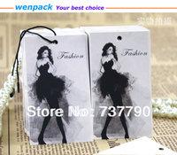 45x90MM/custom printed garment  hang tag /free shipping/string hang tag/plastic tag