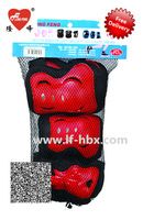 Long feng inline skate protective pads for kids Free Shipping Blue/Red/Pink