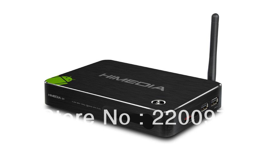 HiMedia Q6 Full HD Media Player Android Smart TV Box 1080P DLNA Android 4.0 HDMI Google Smart TV Box ARM Cortex A9,Drop shipping(China (Mainland))