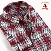 Galeoid u-shark men's clothing spring and autumn male 100% cotton plaid shirt Men long-sleeve shirt qfl001