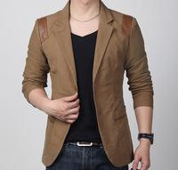 2013 spring and autumn male slim blazer fashion plus size men's clothing small suit jacket