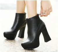 Free shipping 2013 new Korean high-heeled women's boots Waterproof Taiwan thick with short boots