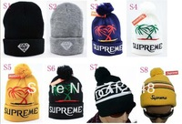 New Fashion Beanies winter Beanie Hats Warm wool hiphop winter caps,Soccer Basketball team caps Free shipping