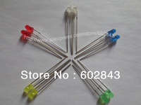 3mm LED 500pcs =100pcs x 5colors WHITE,BLUE,GREEN,YELLOW,RED LEDS LIGHT BALL LAMP BEADS DIODE