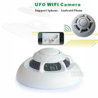 Smoke CCTV Cameras Detector Wifi Wireless IP Camera Hidden Nanny Hidden Video Record UFO P2P 0.25-DVR07