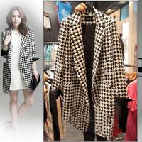 Woolen outerwear 2013 autumn and winter overcoat woolen outerwear female medium-long overcoat